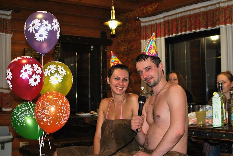 день рождения в бане